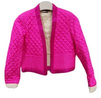 Isabel Marant Quilted Padded Cropped Silk Pink Jacket