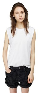 Isabel Marant Tiara Muscle Belted Strap Round Neck Tank 386 Top White