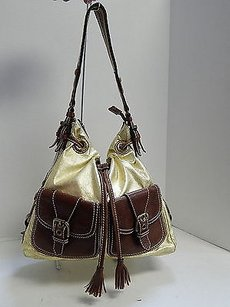 Isabella Fiore Brown Hobo Bag