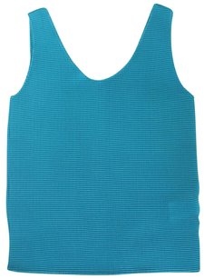 Issey Miyake About All Cyan Dark Ngw Top