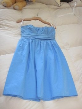 David's Bridal Blue Dress