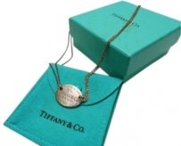 Tiffany & Co. Tiffany & Co. Sterling Silver Oval Tag Necklace