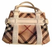 Burberry Bag - Satchel in White Pantene leather and classic design