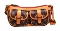 Dooney & Bourke Bag - Satchel in Denim with Tan Trim (Leather)
