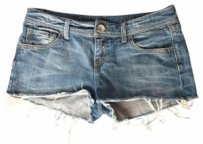 United Colors of Benetton Short Distressed Denim Shorts