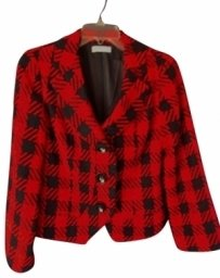 Coldwater Creek Black and Red Blazer