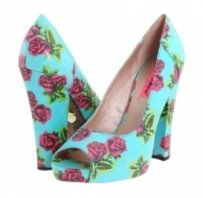 Betsey Johnson Tin Can Rose Pumps