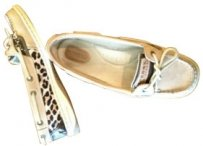 Sperry Tan/leopard print Flats