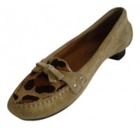 Talbots Camel Suede / Animal Prints Flats