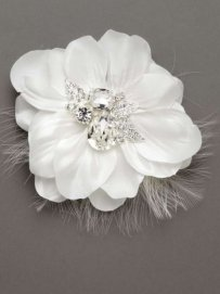 David's Bridal Flower Rhinestone Broach