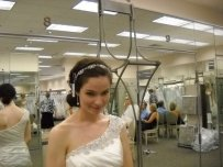David's Bridal Open Crystal Stretch Headband Style