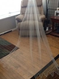 Swarovski Crystal Cathedral Length Veil