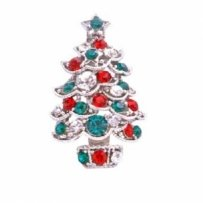 Christmas Tree Brooch Sparkling Green