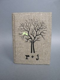 Wedding Rustic Guest Book Burlap Linen
