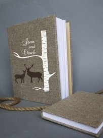 Wedding Rustic Old Style Photo Album Or