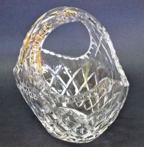 Hand Cut 24% Lead Crystal Basket