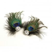 Peacock Feather & Black Marabou Shoe