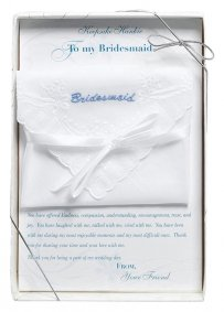 Bridesmaid Embroidered Hankie