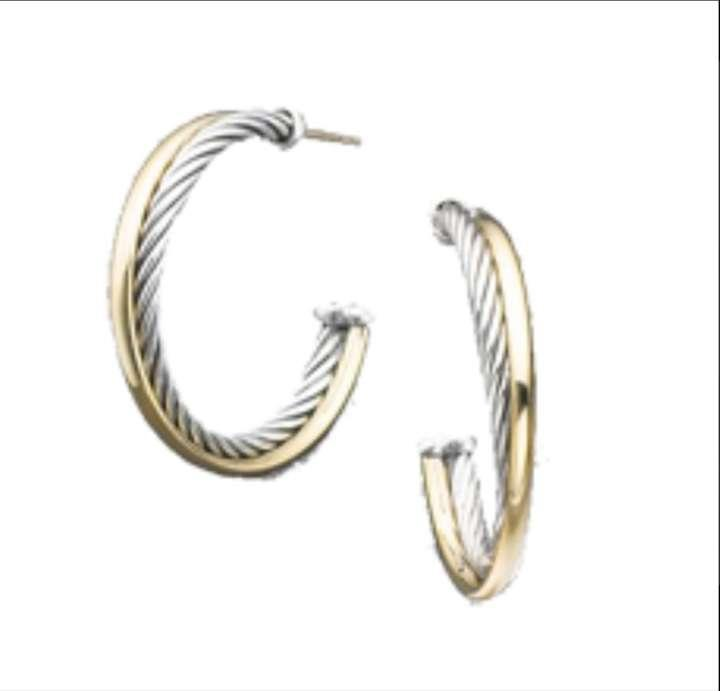 David yurman 18 kt gold sterling silver earrings david for David yurman like bracelets