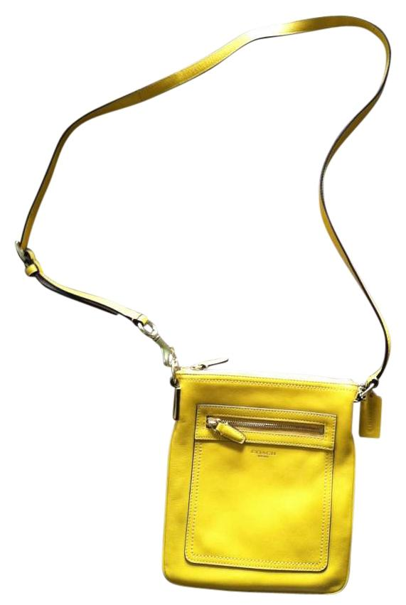 Coach coach leather yellow cross body yellow or mustard 45 off