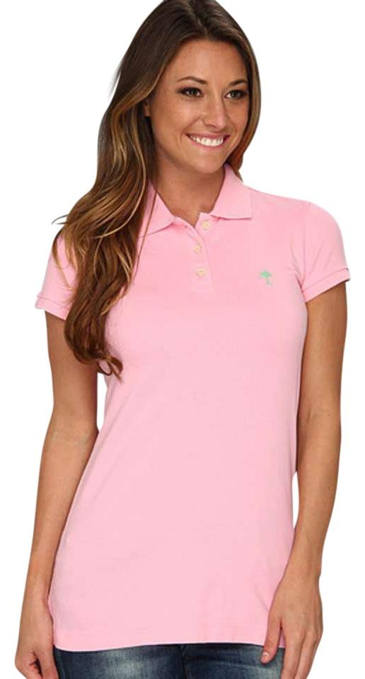 Lilly pulitzer tee shirt pink 52 off tops tradesy for Baby pink polo shirt