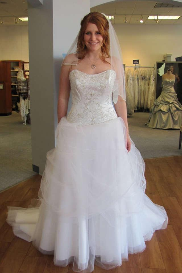 Alfred angelo belle disney style 206 wedding dress for Belle style wedding dress