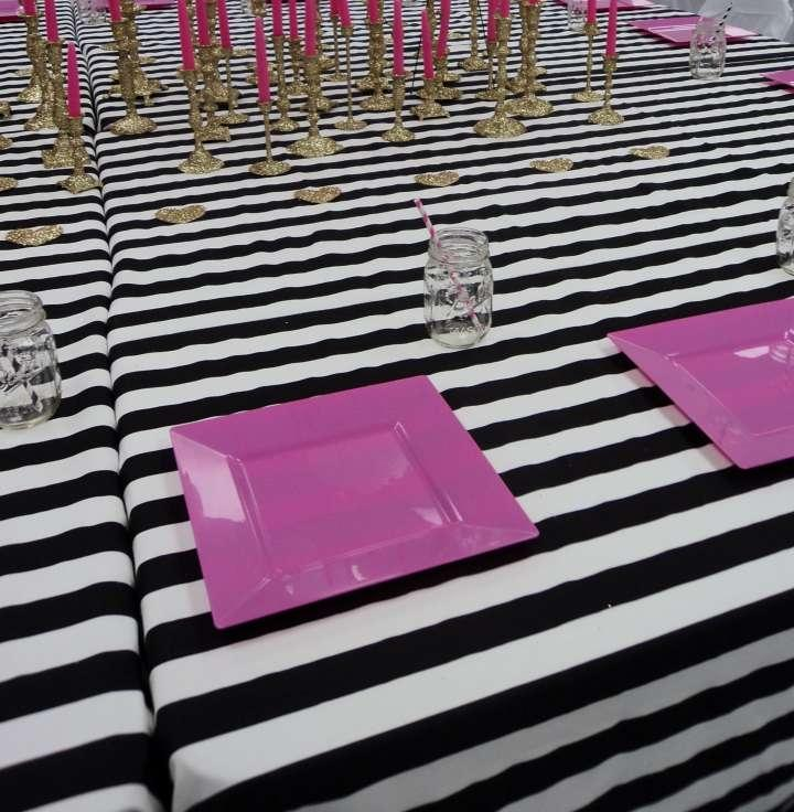 Striped Tablecloth Black And White 45 Off Tradesy Weddings