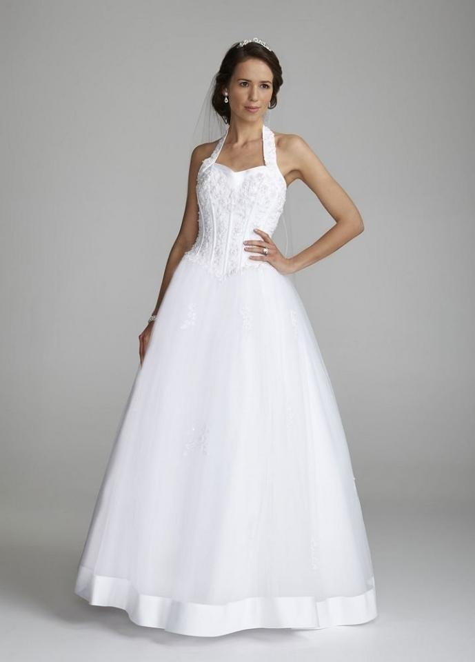 David S Bridal Halter Sweetheart Tulle Ball Gown Style