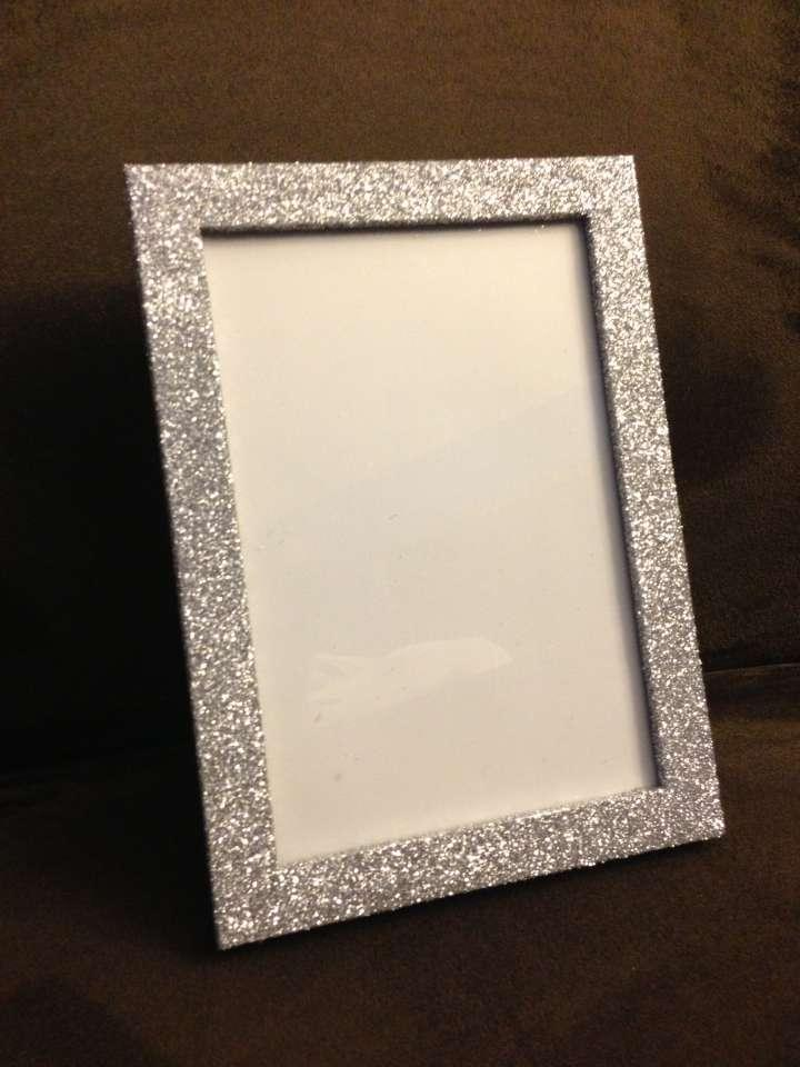 5x7 silver glitter wedding picture frames tradesy weddings