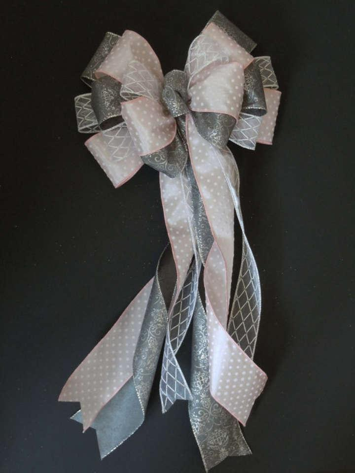 Pink and silver pew bows with pew clips 12 tradesy - Bow decorations for weddings ...
