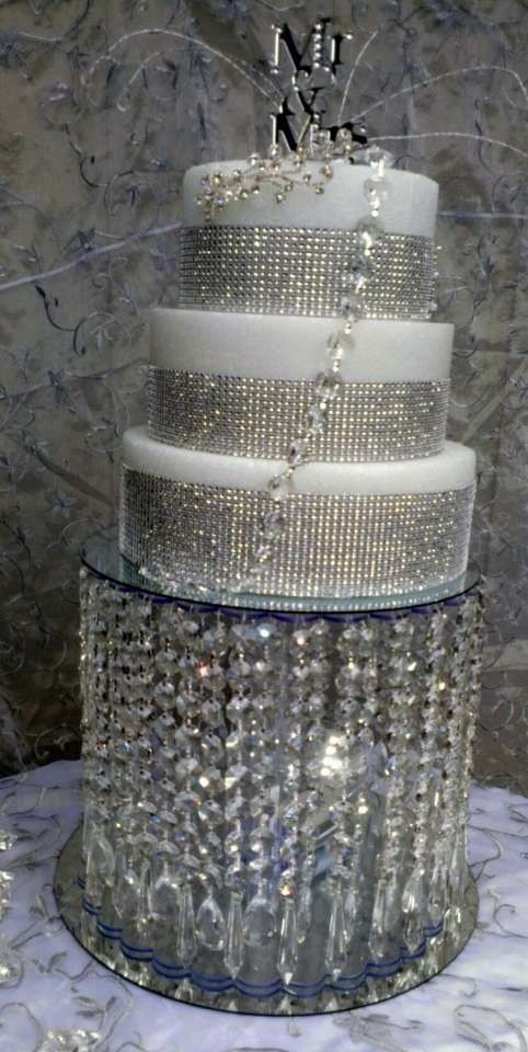 wedding cake stand with hanging crystals wedding cake stand pre installed 5 25684