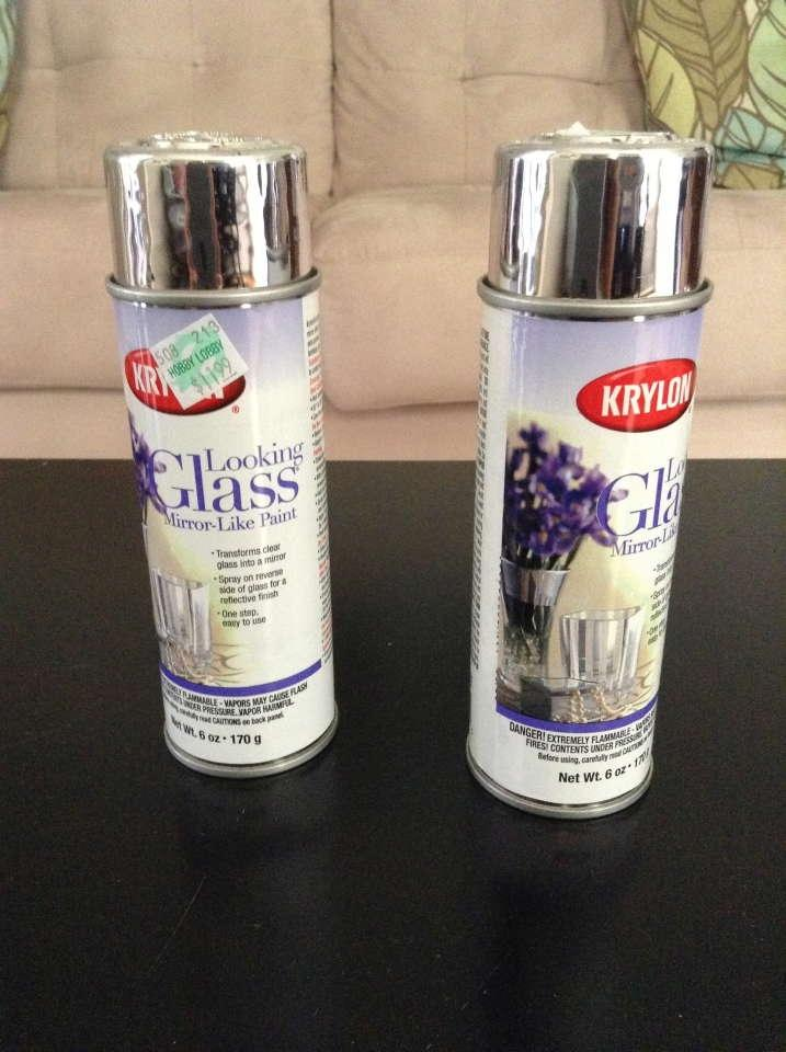 krylon looking glass faux mercury glass spray paint. Black Bedroom Furniture Sets. Home Design Ideas