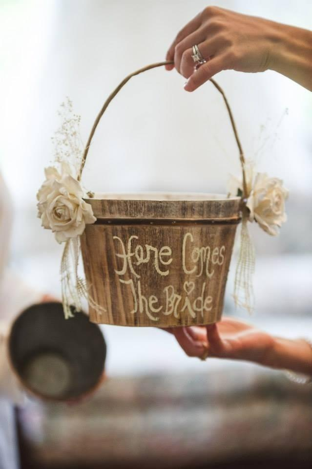 Rustic Vintage Wedding Flower Girl Basket Tradesy Weddings
