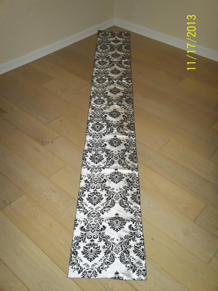 black black table runners table runners runners  damask and  cheap table 14x108  white taffeta 15