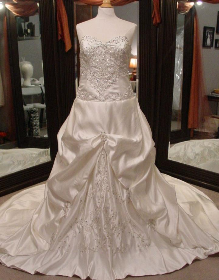 Free shipping unknown alfred angelo knock off wedding for Knock off wedding dresses
