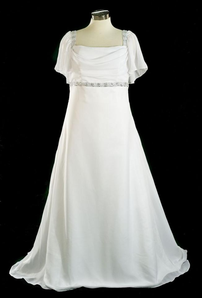 Wedding dresses plus size with short sleeves : Designer short sleeve plus size bridal dre wedding dress g