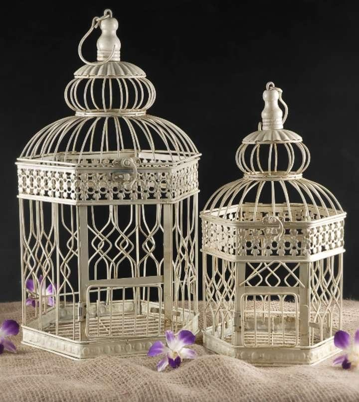 Cheap Decorative Cream Bird Cages For Weddings