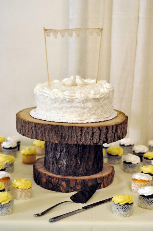 Homemade Rustic Cake Stand