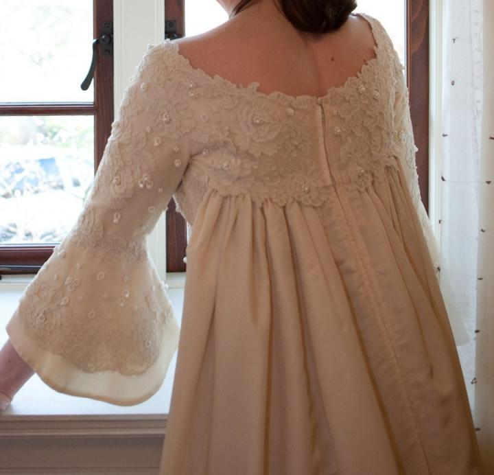 Vintage Wedding Dresses Boston: Priscilla Of Boston 1960's Empire Gown With Pearls And