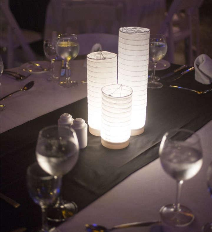 Paper Lantern Centerpiece Lights