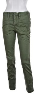 J Brand J Crew Womens Olive Causal Textured Trousers Pants
