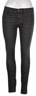J Brand J Skinny Leg Dare Womens Gray Dark Wash Cotton Pants Skinny Jeans