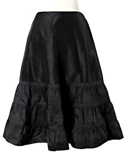 J.Crew Silk Tiered Skirt Black
