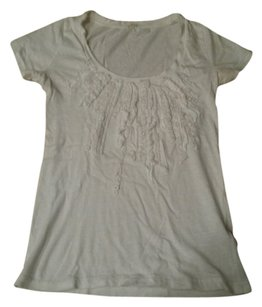 J.Crew T Shirt White with white sequences
