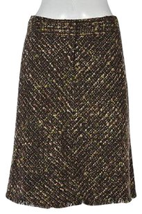 J. Jill J Womens Petites Green Skirt Multi-Color