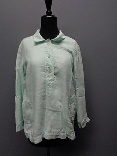 J. Jill 1 Button Down Lined Long Sleeved Sma3910 Tunic