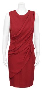 J. Mendel short dress Red Dark Front Fitted Sleeveless Knee Length Cocktail on Tradesy