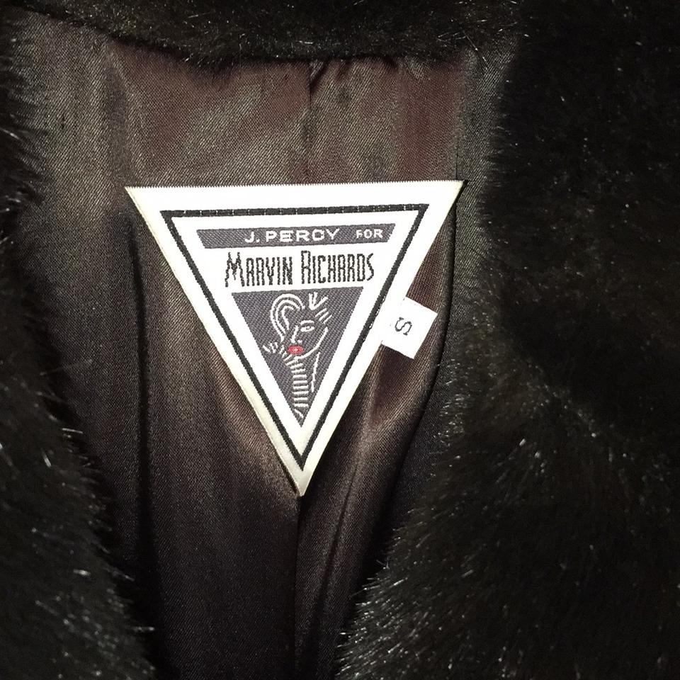 J. PERCY FOR MARVIN RICHARDS Faux Fur Fur Coat