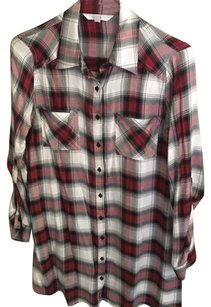Jack Button Down Shirt Red/white