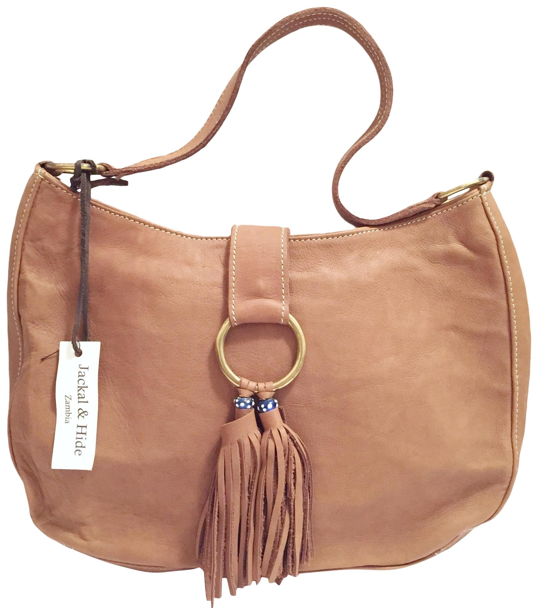 53278d47a1 Jackal hide zambia handmade handbag brown leather hobo bag tradesy jpg  848x960 Handmade leather hobo